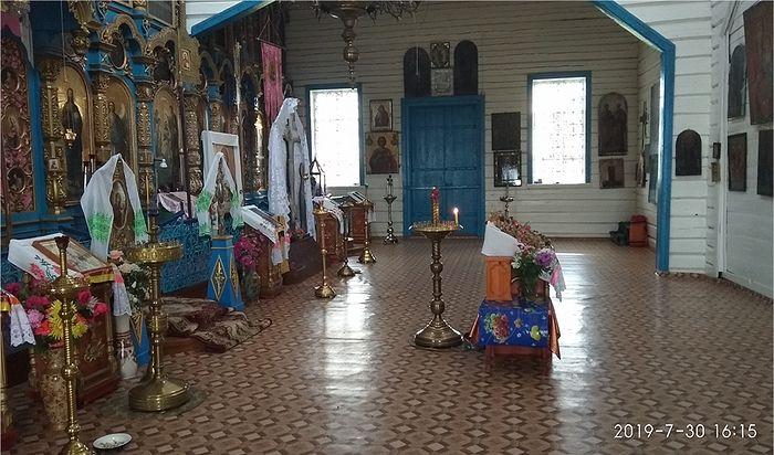 Внутреннее убранство храма Успения Богородицы Ст. Пичиморга (Носакино)