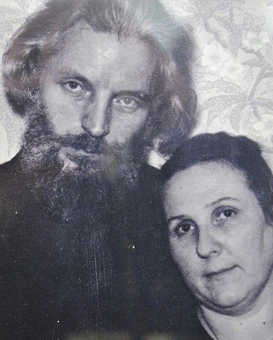 О. Михаил Бойко в сане диакона с матушкой Лидией, 1972 г.