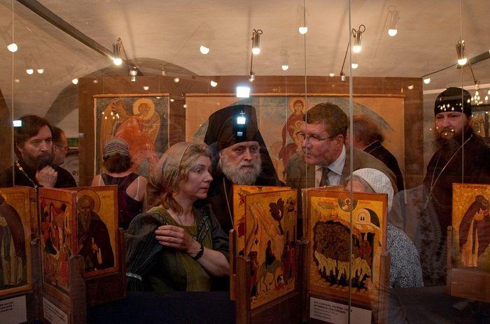 Выставка работ монахини Иулиании (Соколовой) в Музее имени Андрея Рублева 2010 г.