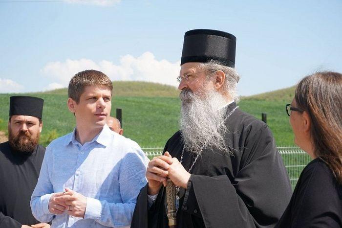 With Bishop Tedosije of Rasko-Prizren and Kosovo- Metohija.