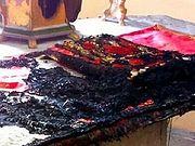 В Греции сожгли престол в православном храме