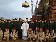 На главном храме Вооруженных сил России установлен центральный купол