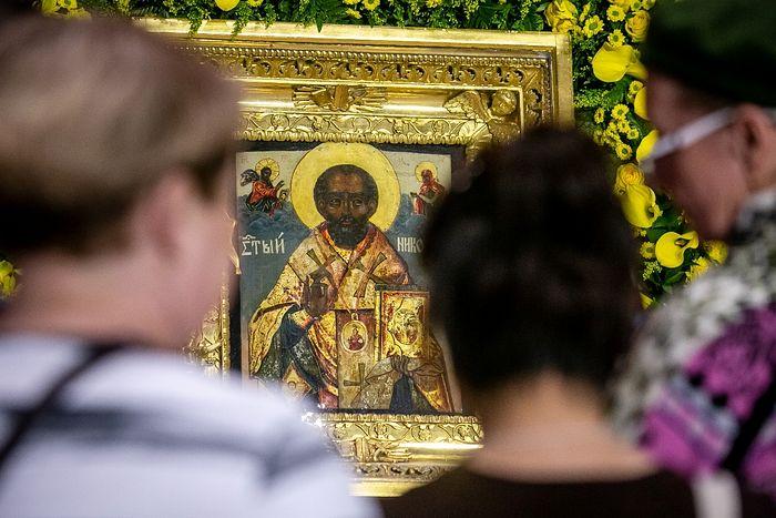 Икона святителя Николая Чудотворца из Николо-Богоявленского морского собора в Петербурге. Фото: Владимир Андреев