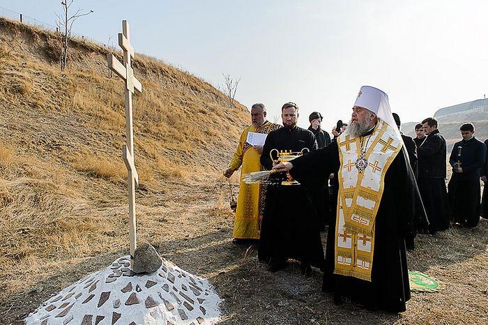 В Чимкенте освящен закладной камень в основание памятника новомученикам казахстанским