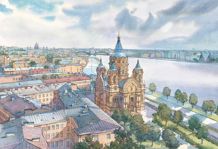 Борисоглебская церковь, снесенная в 1975 году, вернется на Синопскую набережную Санкт-Петербурга