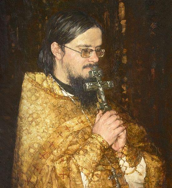 Портрет о.Даниила Сысоева. Художник: Антон Овсянников, 2010