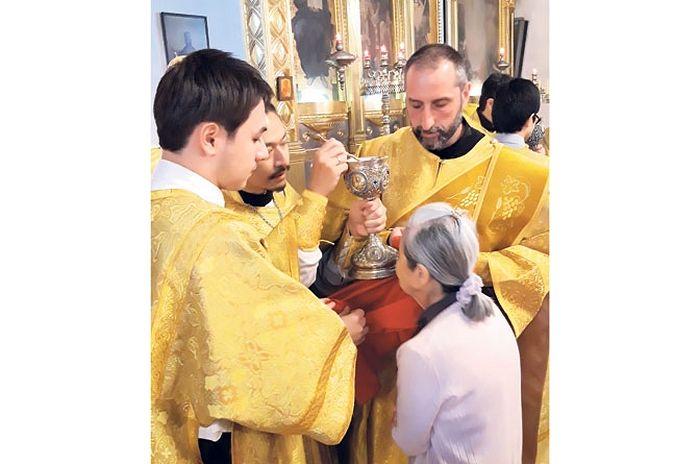 Ђакон Ненад је у токијској цркви служио на српском језику (Фотографије лична архива)