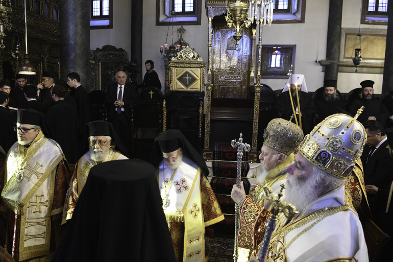 Met. Vasilios of Constantia and Ammochostos of the Church of Cyprus is second from the left. Photo: Romfea