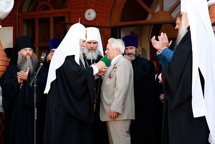 Ο Μιχαήλ Καλάσνικοφ και ο Πατριάρχης Αλέξιος Β '