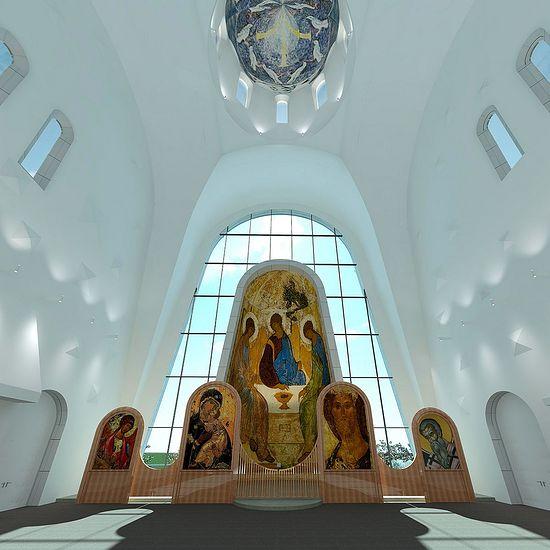 Проект храма в честь Священномученика Игнатия Богоносца на ул. Верейская. Проект архитектурного бюро Архпоинт