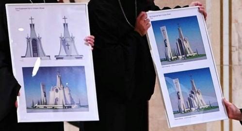 Проект храма Воздвижения Креста Господня в Митине
