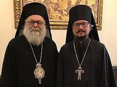 В Дамаске состоялась встреча представителя Патриарха Московского и всея Руси с Предстоятелем Антиохийской Православной Церкви