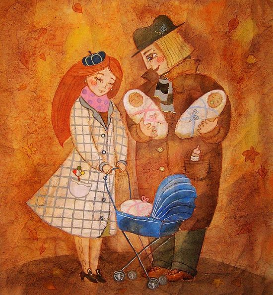 Счастливое семейство. Художник: Анастасия Столбова