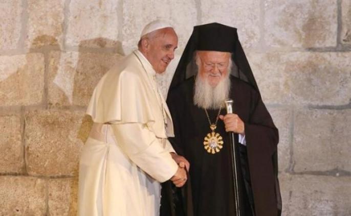 Патриарх Варфоломей и папа Франциск