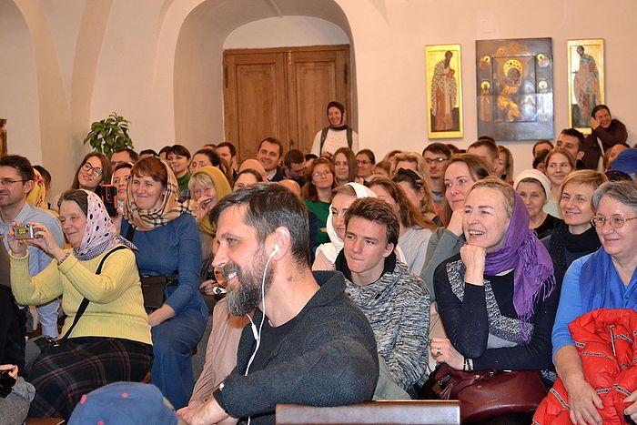 Встреча в Новоспасской обители, слушатели