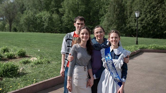 Наталья со старшими детьми