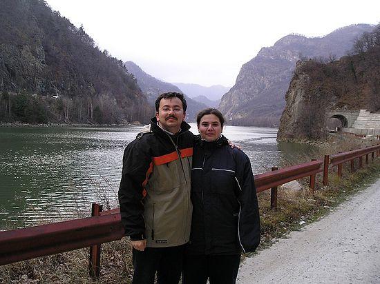 Oana Iftime με το σύζυγό της