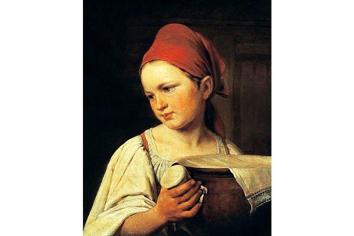 А.Г. Венецианов. Крестьянка с крынкой молока. 1820-е гг.