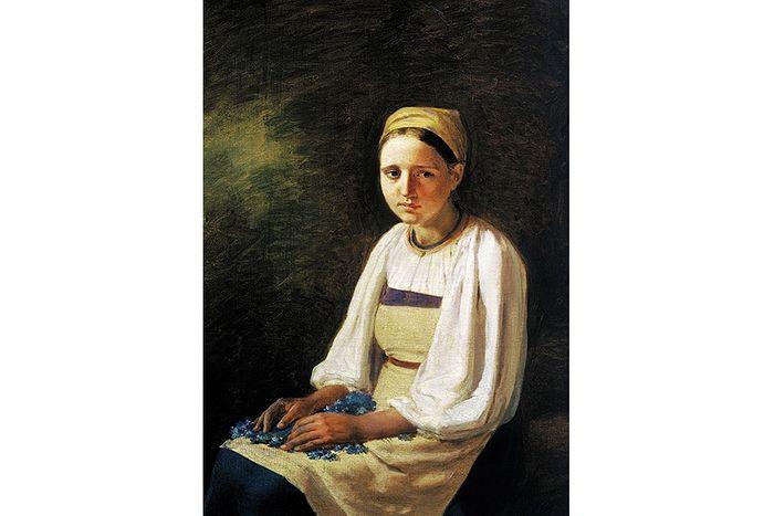 А.Г. Венецианов. Крестьянка с васильками. 1830 г.