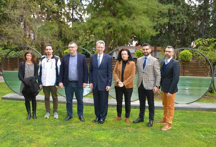 The Orthodox Times team with U.S. Ambassador Geoffrey Pyatt. Photo: orthodoxtimes.com