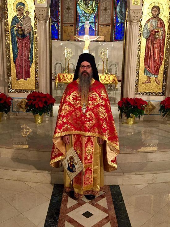 The new Dean of Holy Cross Theological School Archimandrite Maximos Constas. Photo HCHC