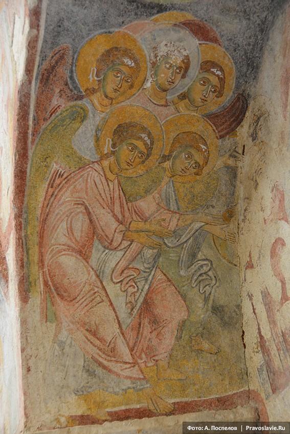 Ангелы, фреска