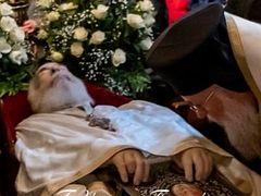 Fr. George Metallinos buried at monastery on Corfu