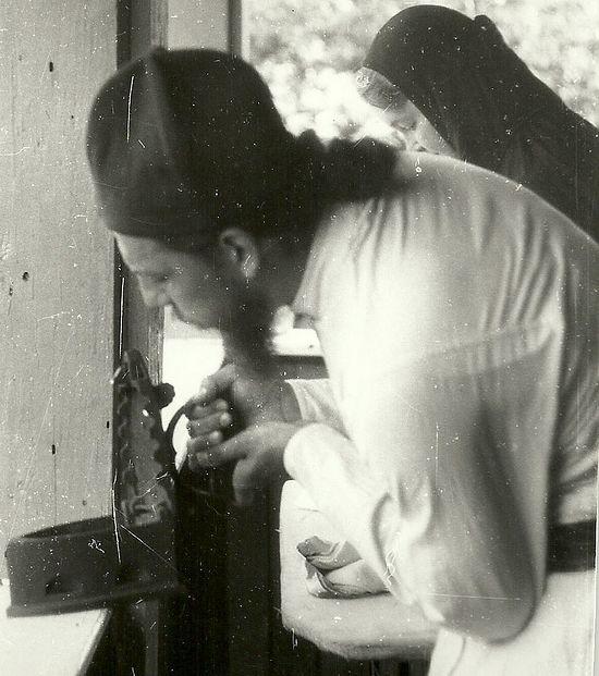 Fr. Savvaty at work