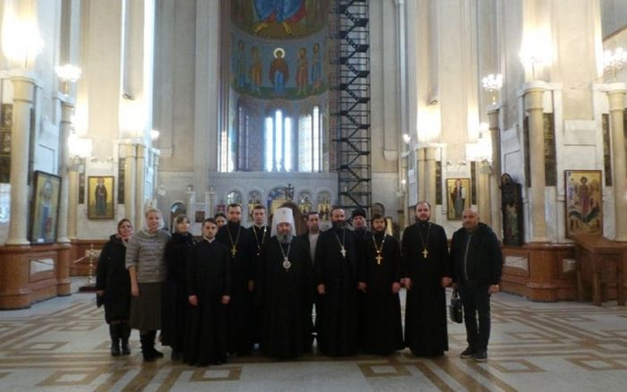 The Ukrainian delegation visiting Holy Trinity Cathedral in Tbilisi. Photo: spzh.news