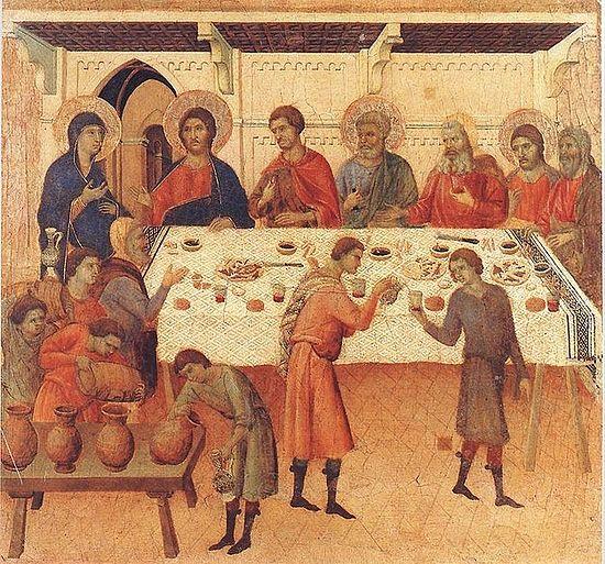 Duccio di Buoninsegna, The Wedding at Cana, 1308–11. Opera della Metropolitana di Siena, (Italy).