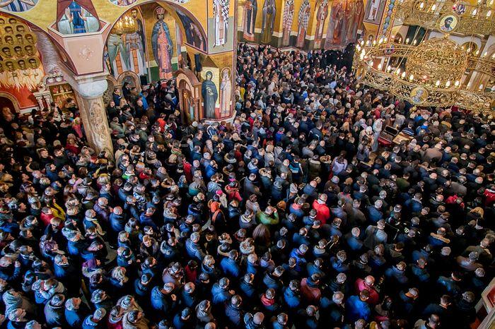 Воскресная литургия в Подгорице, 29 декабря 2019 г.