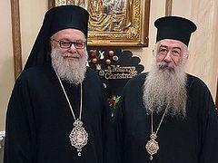 Антиохийский Патриарх получил приглашение от Иерусалимского Патриарха на Собор Предстоятелей