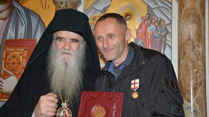 Митрополит Черногорский Амфилохий и бывший полицейский Милое Шчепанович