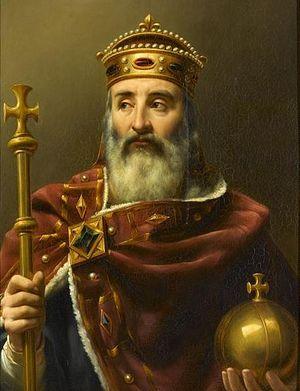 Карл Великий. Картина французского художника XIX в. Луи-Феликса Амьеля