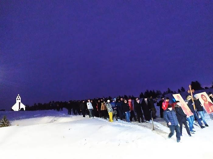 Крестный ход на Жабльаке. 31 декабря