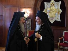 "Patriarch Bartholomew sternly responds to Jerusalem's initiative for Synaxis of Primates, reports ""Light of Phanar"" blog"