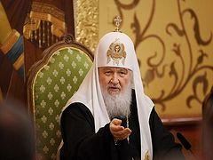Πατριάρχης Κύριλλος: ''Η κρίση στην Ορθοδοξία προκλήθηκε από την παρέμβαση ξένων δυνάμεων''