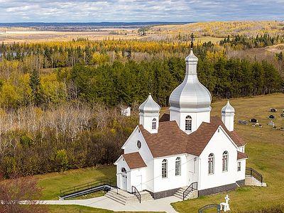Ορθόδοξες εκκλησίες της Αλμπέρτας (Καναδάς) αφ' υψηλού