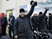 Митрополит Псковский Тихон открыл новый спортивный зал в Паломническом центре Псково-Печерского монастыря