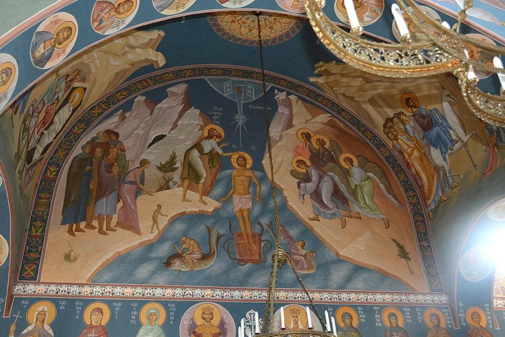 Крещение Господне. Фреска храма при Русской духовной миссии
