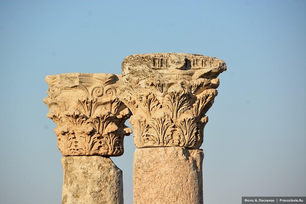 Амман, Цитадель, римские колонны