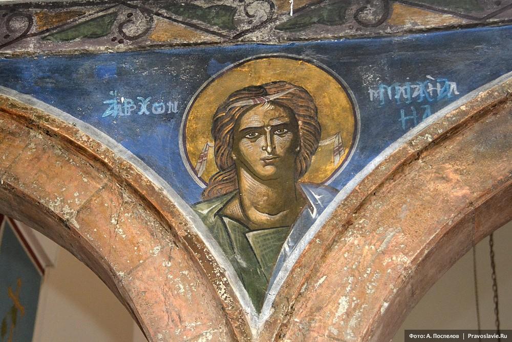Мадаба, древняя фреска  архангела Михаила