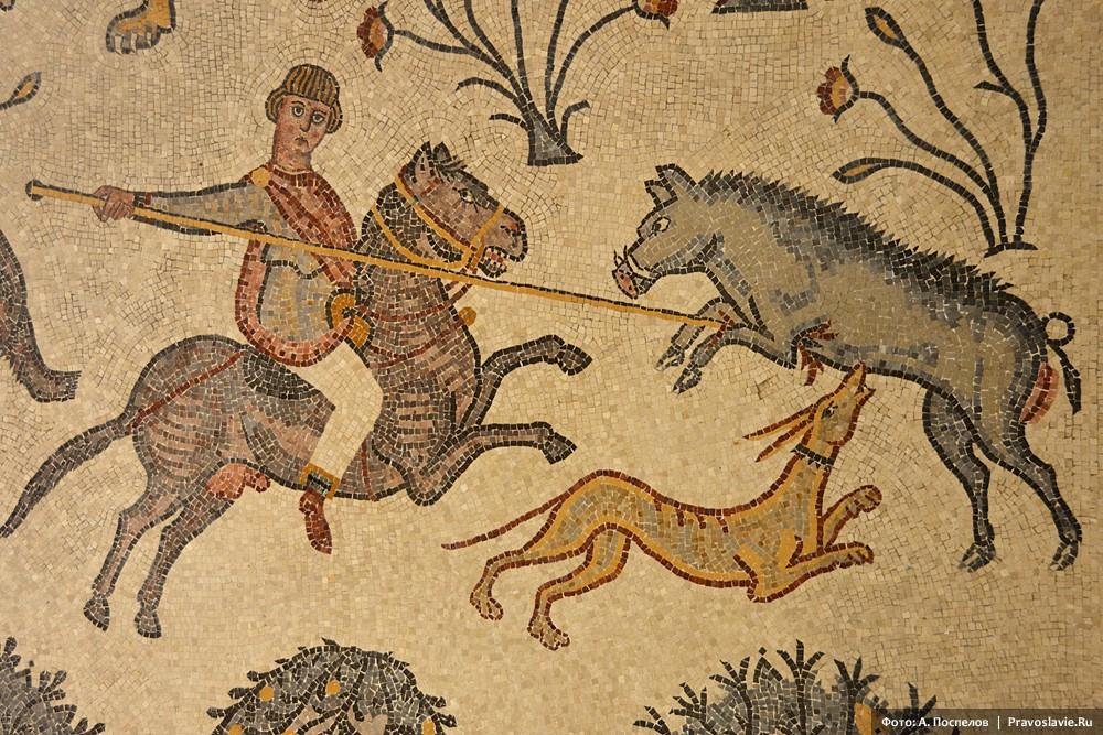 Гора Нево, фрагмент мозаики
