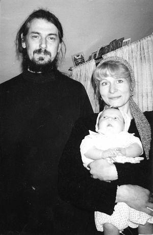 С супругом - о. Владимиром Вигилянским