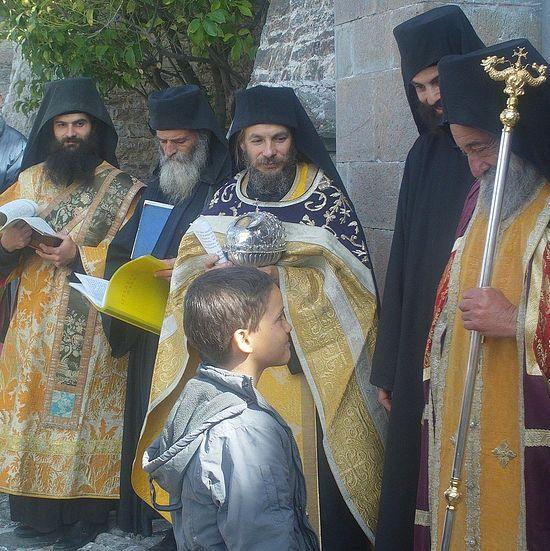 Στη Ιερά Μονή Δοχειαρίου