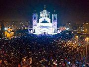 Около 50 000 верующих Черногории вышли на ночное молитвенное стояние
