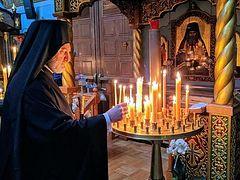 Greek Archbishop Elpidophoros visits Russian cathedral, venerates relics of St. John (Maximovitch)