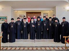 Группа паломников Украинской Православной Церкви встретилась с Архиепископом Тиранским и всей Албании Анастасием