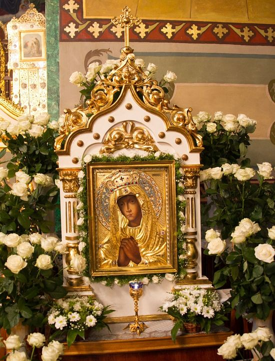 The wonderworking Krements Sorrowing Icon of the Mother of God