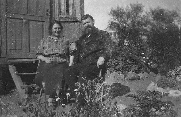 Со второй женой Агнес Аабринк